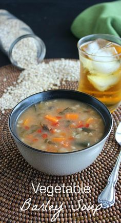 Vegetable Barley Soup is a great mix-up for your hearty and satisfying soup repertoire. It  is easy to make with a wonderful variety of fresh vegetables.