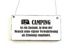Dekoschild CAMPING von DöRPKIND  http://de.dawanda.com/product/104994091-dekoschild-camping-tuerschild-holzschild-shabby