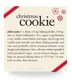 christmas cookie #recipe #philosophy #holiday
