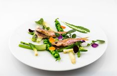 Red mullet with spring vegetables served at our brasserie-style restaurant Café Beau-Rivage in Lausanne