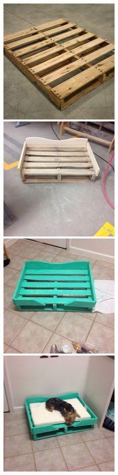 wood pallet dog bed #hunde #diy