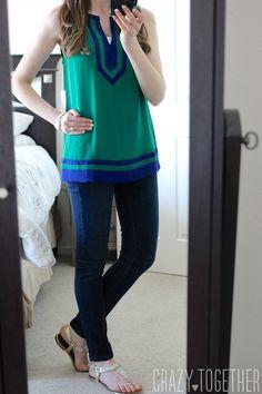 Flynn Colorblock Sleeveless Blouse from 41Hawthorn - May 2015 Stitch Fix Review #stitchfix #fashion