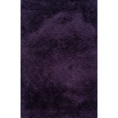@Overstock.com - Indoor Purple Shag Area Rug - This plush shag area rug is hand-tufted with a thick yarn for density and comfort and combined with a thin, high luster yarn for a dramatic textural effect. In a rich shade of purple, this area rug will add personality to your room.   http://www.overstock.com/Home-Garden/Indoor-Purple-Shag-Area-Rug/7576711/product.html?CID=214117 $103.19