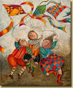 Boulanger is a great artist.  Love the prints my parents have in their house and would love to have one of these.   Graciela Boulanger.