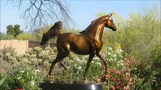Supreme Stallion created by renowned bronze sculptor, J. Anne Butler epitomizes the sheer exuberant power and detail of the Arabian horse. Finished here in A...