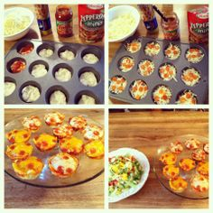 Quick easy meal pizza cupcakes<3