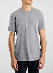 Grey Acid Wash Crew T-Shirt