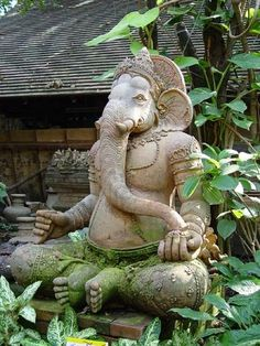 Ganesh — god of foresight and wisdom, as ustranitel of all hindrances call it all Hindus before any business.