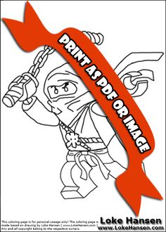 Lego NINJAGO Hero Group Coloring Page Coloring Pages
