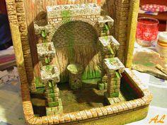 Tutorial de una fuente historiada – Nacimiento en Belén Coolpix, Aquarium, Pinwheel Tutorial, Christmas Crafts, Fonts, Nativity Scenes, Cold Porcelain, Miniatures, Birth