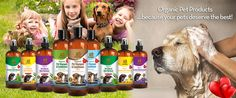 Organic Pet shampoo and conditioners with essential oils, Pet odor and stain remover. Flea and Tick Shampoo for dogs and cats. All organic products for pets.