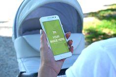 Mother Using White Smartphone - Mediamodifier - Online mockup generator