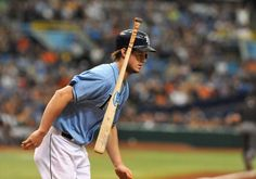 ST. PETERSBURG, FL - AUGUST 4:  Outfielder Wil Myers #9 of the Tampa Bay Rays tosses his bat and runs to first base after a first-pitch home run in the first inning against the San Francisco Giants August 4, 2013 at Tropicana Field in St. Petersburg, Florida. (Photo by Al Messerschmidt/Getty Images)