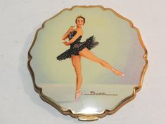Vintage Stratton Ballerina Powder Compact. Something special from Lavender Hill Antiques