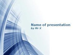 This abstract powerpoint template made of blue floating lines is perfect for any kind of presentation.This presentation template includes 1 master background and 1 internal slide.