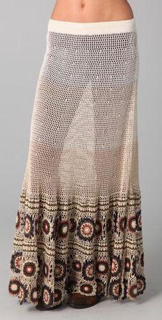 #shopbop.com              #Skirt                    #Free #People #Crochet #Maxi #Skirt                 Free People Crochet Maxi Skirt                                                http://www.seapai.com/product.aspx?PID=893035