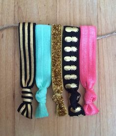 "The ""Kimberly Ties"" Elastic hair ties by TheJarShoppe"