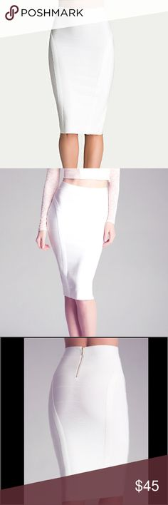 Bebe midi bandage skirt. Curve hugger. Perfect with literally anything and everything. bebe Skirts Midi