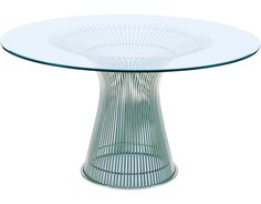 Warren Platner Platner Dining Table by Knoll Glass Round Dining Table, Dining Table Design, Shopping Mall Girl, Warren Platner, Chicken And Brown Rice, Coffee And End Tables, Dining Room Furniture, Outdoor Dining, Mid-century Modern