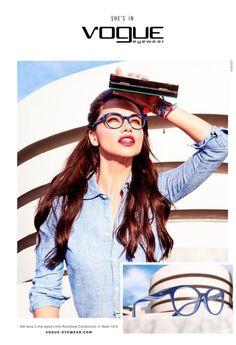 6f22f5ba86 Adriana Lima for Vogue Eyewear. Adriana Lima