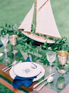 Preppy Vintage Nautical Wedding    #AisleSociety #ad #ASforDB #DBMaids #DavidsBridal #OlegCassini #wedding #weddingday #weddingdress