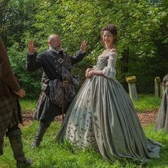 Dougal's scare tactics don't work on Claire. #OutlanderSeries #BehindTheScenes #STARZ #scary @caitrionabalfe from outlander starz instagram