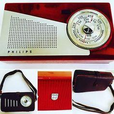 Radio Vintage Anni '50 Philips portatile Funzionante con Custodia Originale RARA | eBay