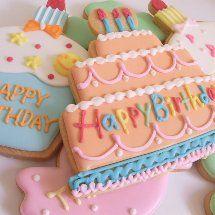 ChiChiと仲間たちのSweetsHolicな日々の画像 Sweet Cookies, Iced Cookies, Cute Cookies, Royal Icing Cookies, Macaroon Cookies, Meringue Cookies, Cupcake Cookies, Cookie Cakes, Happy Birthday Cookie