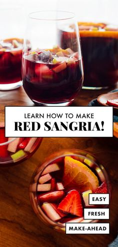 Meet the BEST sangria you'll ever have! Made with fresh fruit, brandy and red wine, this classic sangria will hit the spot. Find the recipe and my best sangria tips at The Best Red Sangria Recipe, Best Wine For Sangria, Red Sangria Recipes, How To Make Sangria, Apple Sangria, White Wine Sangria, Best Red Wine, Peach Sangria, Healthy Sangria Recipe