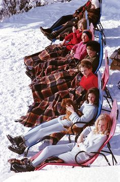 Après-skiers, Gstaad, Switzerland, 1963. By Slim Aarons/Hulton Archive/Getty Images.