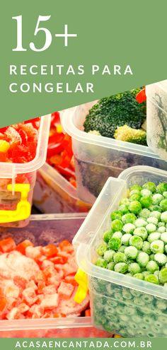 15+ Receitas para Congelar - Confira uma lista com receitas fáceis de fazer que vão tornar suas refeições mais práticas. São ideias para deixar suas marmitas mais criativas, diferentes e saudáveis. Inove no cardápio do mês com nossas dicas! Temos receitas com frango, carne moída e também receitas veganas e vegetarianas. Confira o post completo! #comidacaseira #receitas #comidadeverdade #refeição #congelar #marmita #marmitacongelada #acasaencantada   a Casa Encantada Healthy Travel Food, Get Healthy, Comidas Fitness, Low Carb Recipes, Healthy Recipes, Snack, Going Vegan, Food Truck, I Foods