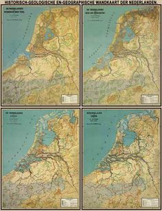 Kaarten Historical Maps, Historical Pictures, Vintage Maps, Antique Maps, Early World Maps, Holland Map, Netherlands Map, Old Maps, Map Design