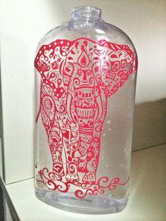 Henna Elephant Vinyl Decal 8.5  x 6.5 Inches by MissMollyGDesign, $7.00