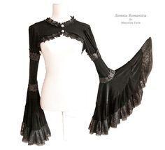 Capelet Mariposa victorian steampunk noir size by SomniaRomantica, $79.00