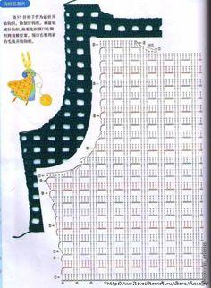 Fabulous Crochet a Little Black Crochet Dress Ideas. Georgeous Crochet a Little Black Crochet Dress Ideas. Pull Crochet, Gilet Crochet, Crochet Vest Pattern, Crochet Motifs, Crochet Jacket, Crochet Chart, Crochet Cardigan, Easy Crochet, Crochet Stitches