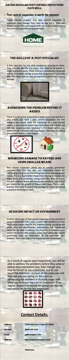 Professional Pest Company is the best option to get rid of all you termite pest problems. Here are some points by which you will know how to deal with Pest. For more information visit http://www.homepest.com