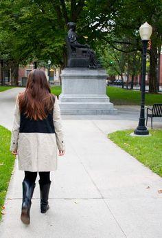 Neutrals for Fall: bb dakota cattrall jacket, frye boots