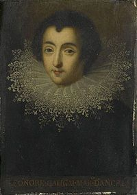 Leonora Dori was a favourite of Marie de' Medici, mother of King Louis XIII of France. Galigaï was married to Concino Concini, the later marquis and then marshal d'Ancre, during Marie's reign as Queen Mother and Regent of France.