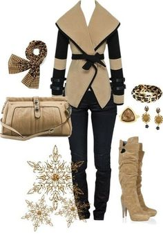 A fashion look from December 2012 featuring G-Star jeans, Sergio Rossi boots and Mischa Barton Handbags shoulder bags. Browse and shop related looks. Lila Outfits, Classy Outfits, Stylish Outfits, Beautiful Outfits, Leopard Outfits, Stylish Clothes, Fashion Mode, I Love Fashion, Fashion Outfits