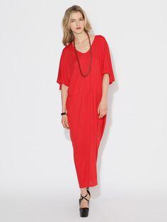 Rosegold jersey maxi dress