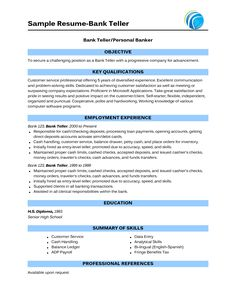 images about career resume banking on pinterest   bank    most of people who are about to apply for job as a bank teller  they consider to take learn from a bank teller resume sample  thereby  you can get the