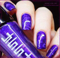 Amethyst Nail Design ️www.nail-art-marie.com