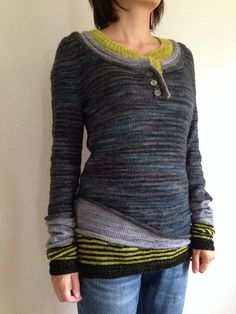 Crochet Patterns Sweter Ravelry: Project Gallery for 3 in 1 pattern by atelier alfa (Diy Clothes Sweater… Sweater Knitting Patterns, Knit Patterns, Hand Knitting, Moda Crochet, Knit Crochet, Mohair Sweater, Vintage Sweaters, Pulls, Long Sleeve Sweater