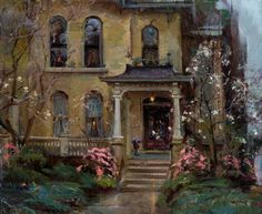 Painting by Daniel F. Gerhartz, American figurative painter, born 1965.