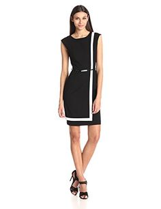 Calvin Klein Women's Sleeveless Belted Color Block Dress, Black/White, 2 Calvin Klein http://www.amazon.com/dp/B00S6B527Q/ref=cm_sw_r_pi_dp_aVl4vb06ACCBT