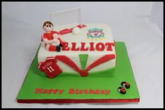 Footballer Birthday Cake. Find me on facebook at Cakes by Helen Campbell