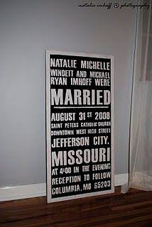 vintage marriage announcement