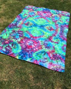 Tie Dye Tapestry Psychedelic Trippy Hippy Festival Hippie Beach Picnic Blanket Flat Sheet Bedroom Bedding Custom Made to Order