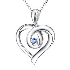 Valentines 925 Sterling Silver Love Charm Pendant Necklace Grade Quality Zircon #ValentinesNecklace #Pendant