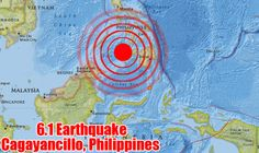 Officials say a strong earthquake 6.1 magnitude, has shaken parts of the southern and central Philippines, frightening people but causing no serious damage or injuries.